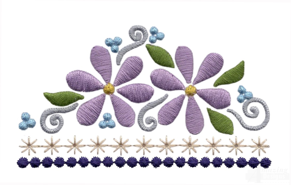 Flowering Eyelet Line 1 Embroidery Design