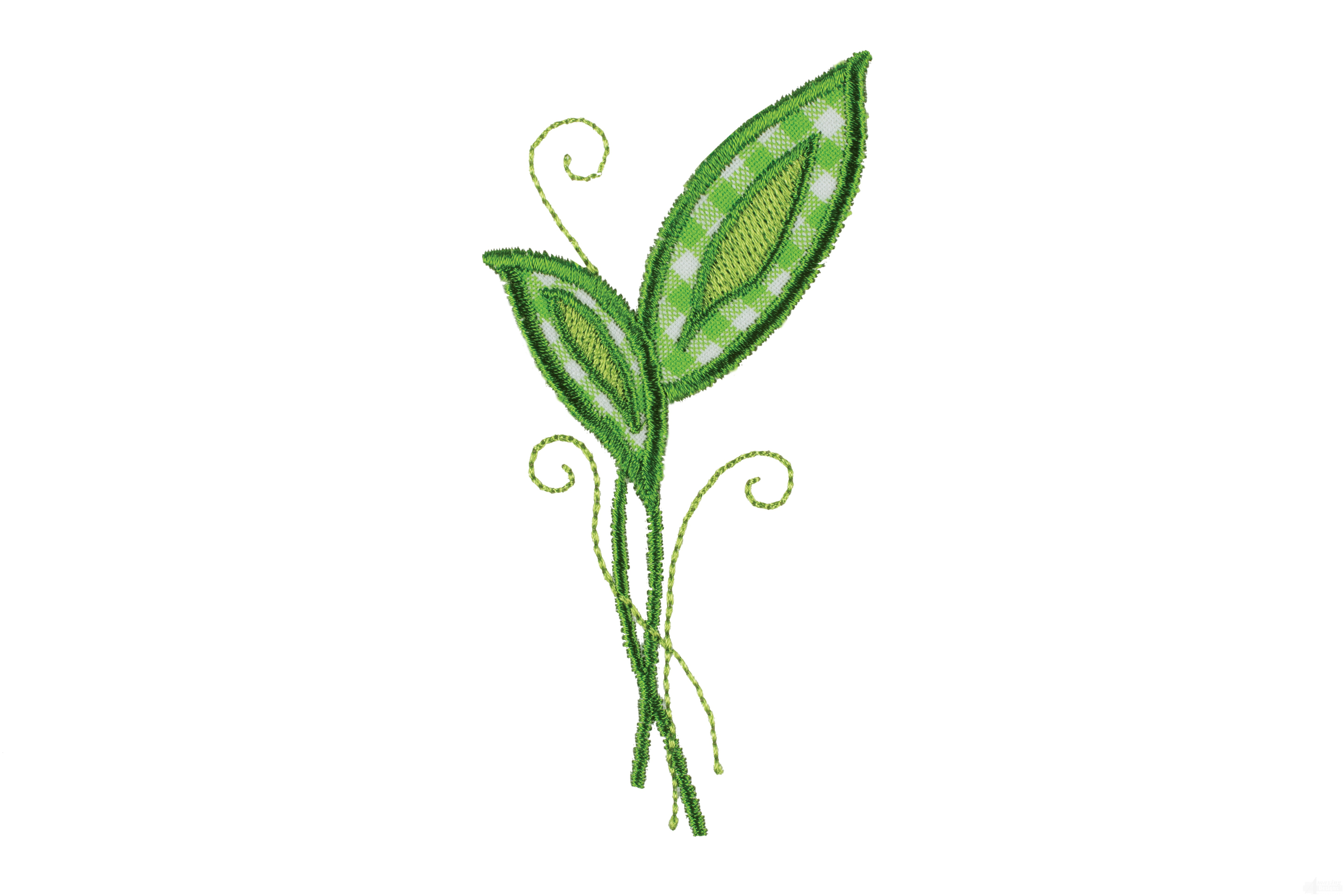 Leaves happy day applique embroidery design