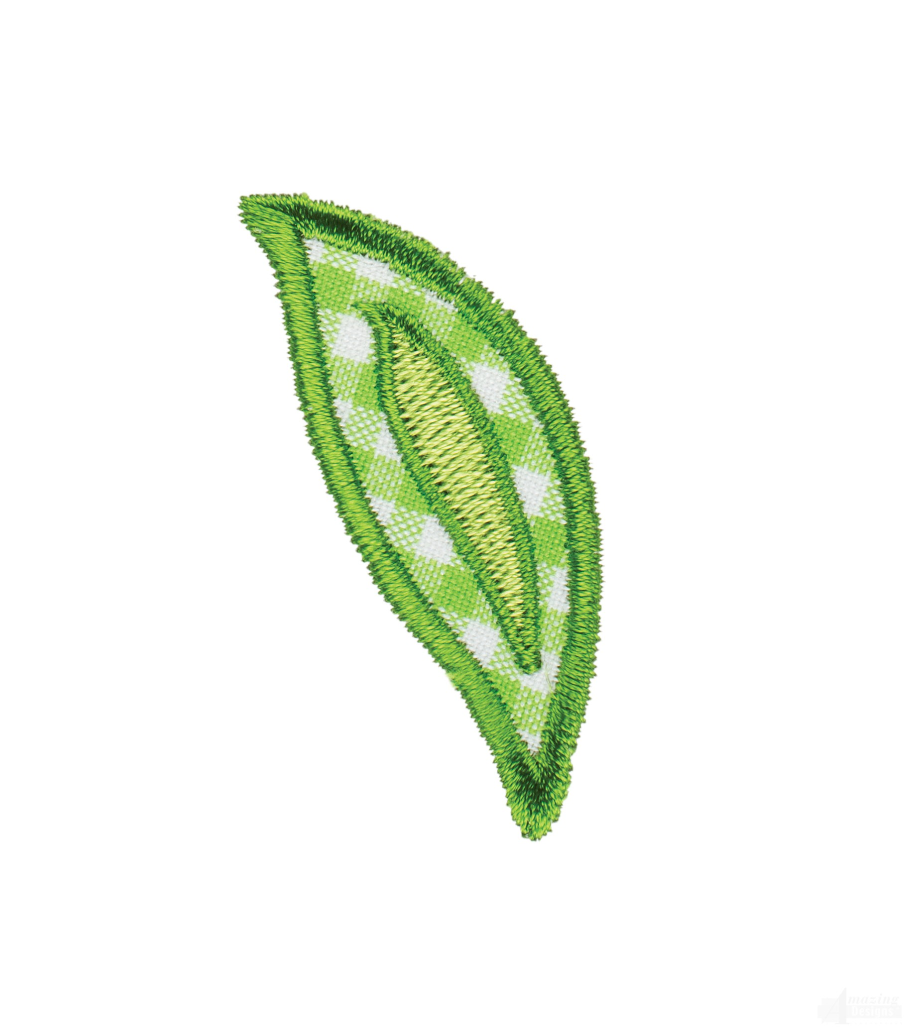 Leaf happy day applique embroidery design