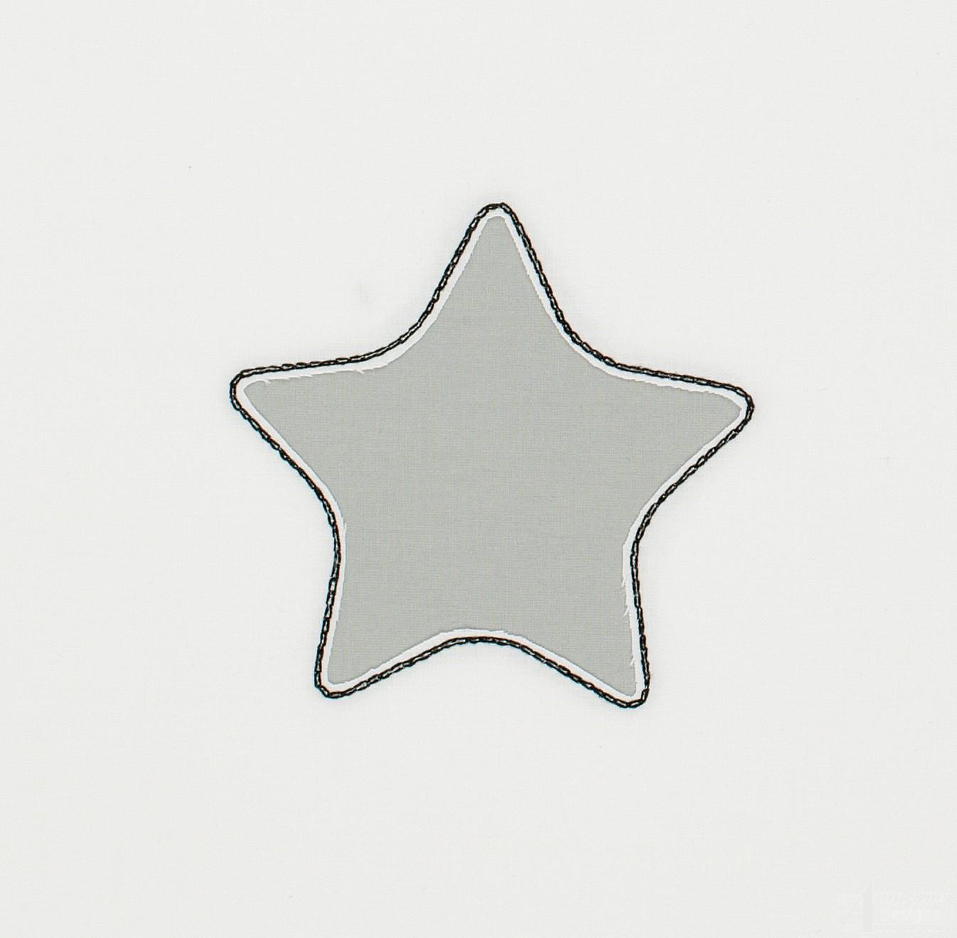 Star reverse applique embroidery design