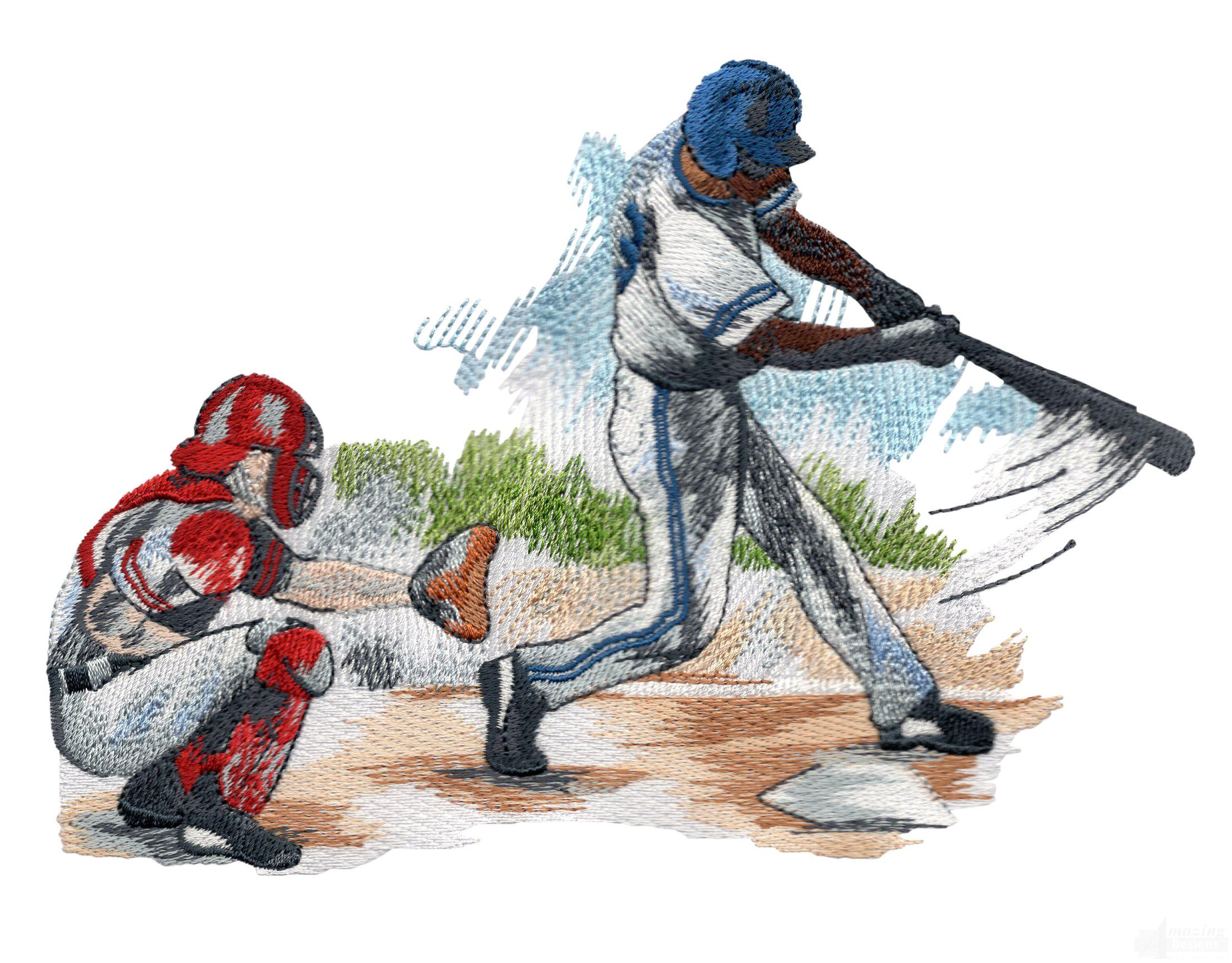 Big Swing Game Day Baseball Embroidery Design