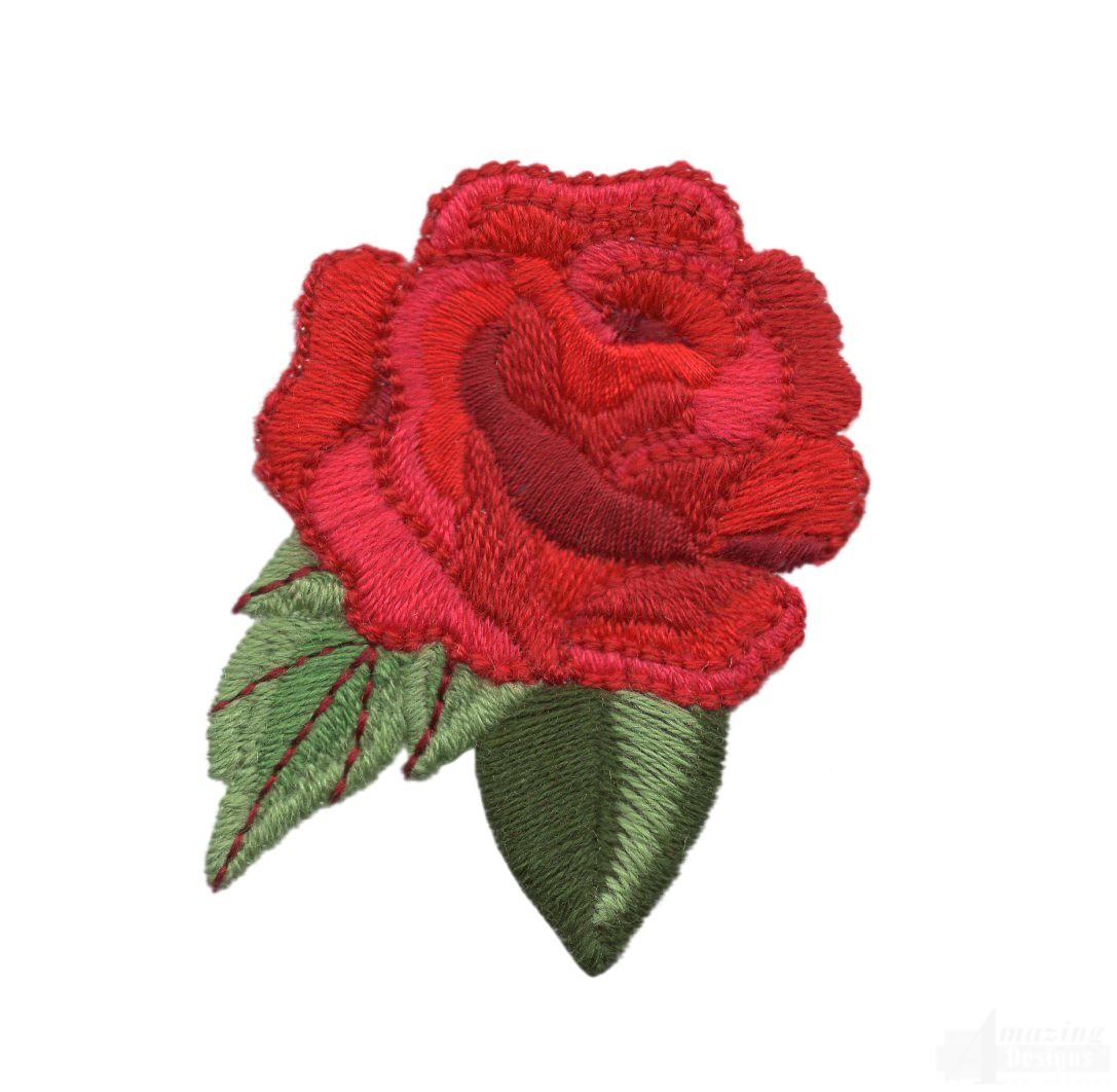 Rose card free embroidery patterns kid