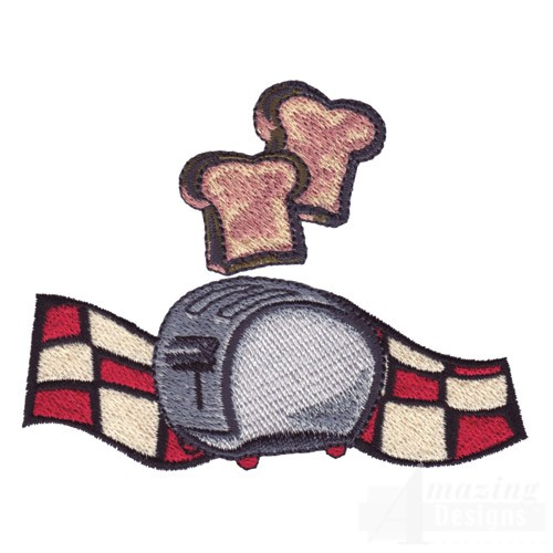 Free Machine Embroidery Design Of Toaster