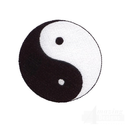 Yin yang free embroidery design for Architecture yin yang