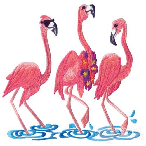 Flamingo Embroidery Designs