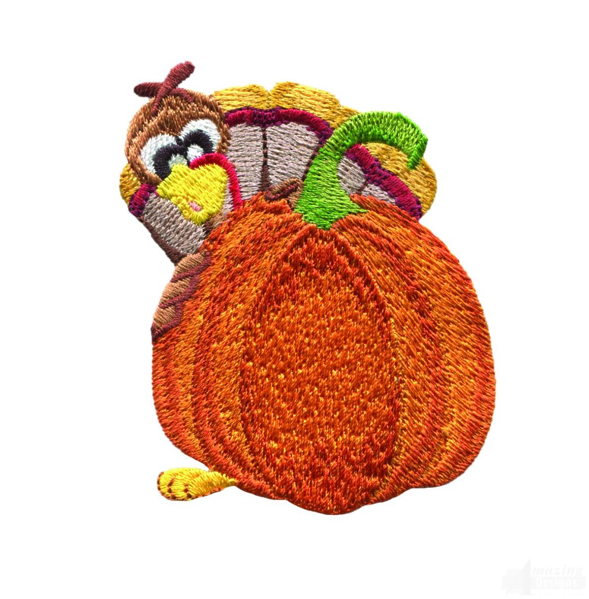 Embroidery Design Turkey Applique Design Monogram