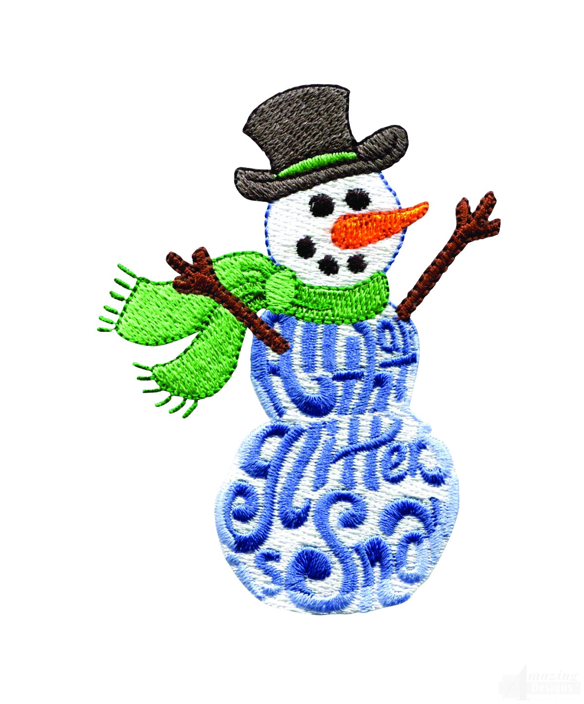 All that glitters snowman embroidery design