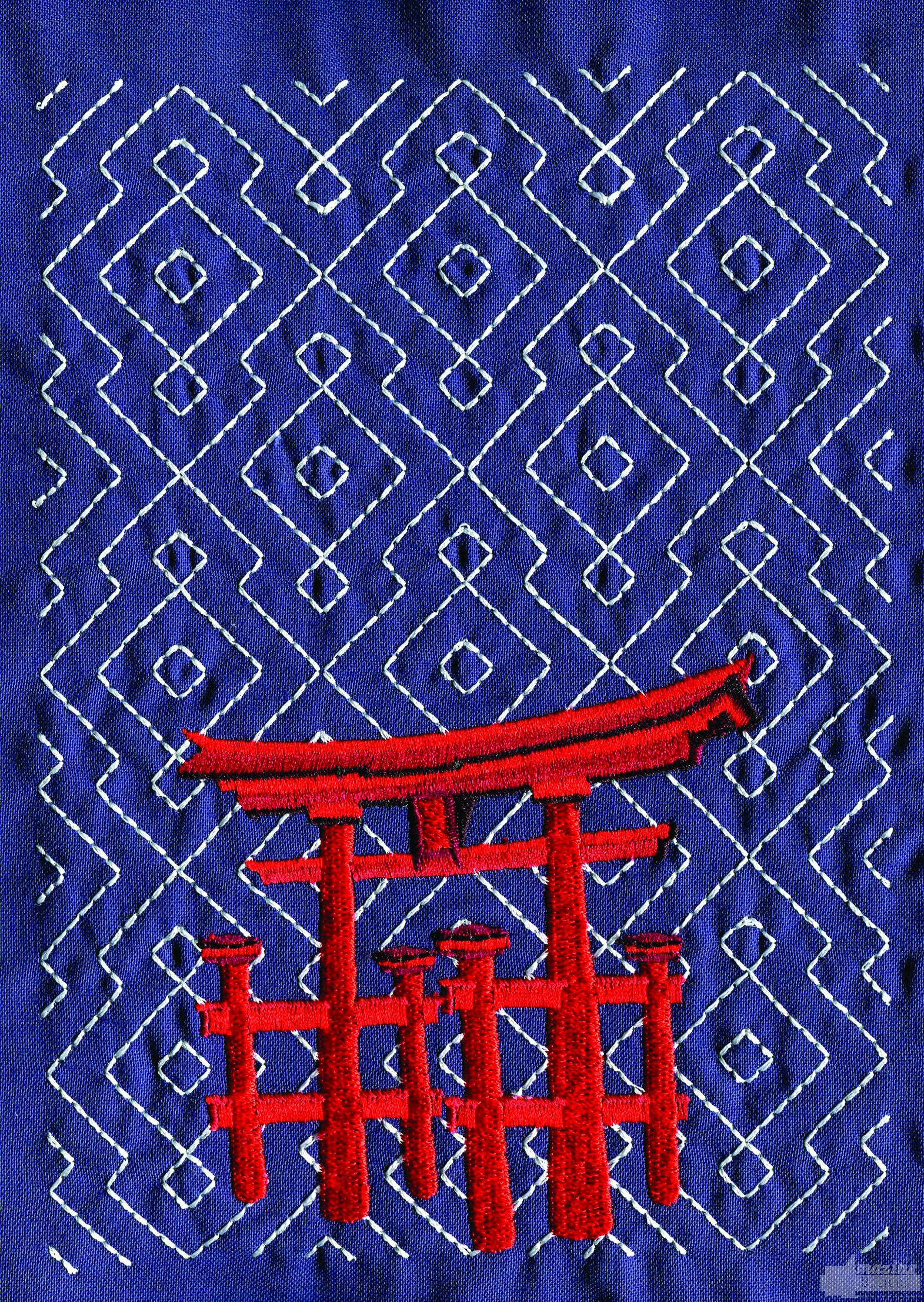 Japanese Arch Embroidery Design