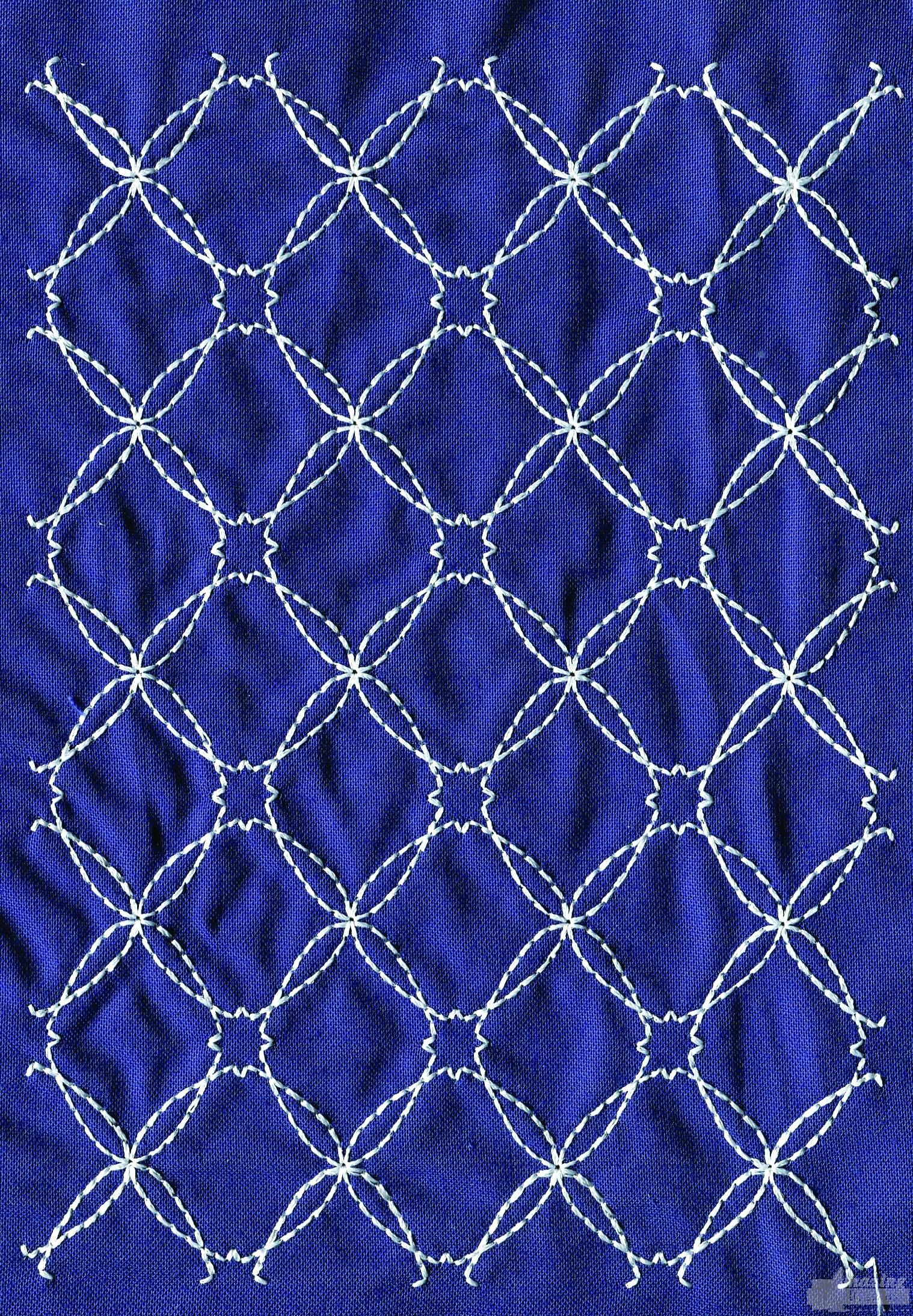 Sashiko Quilting Patterns Free : Sashiko Quilt Embroidery Design 2