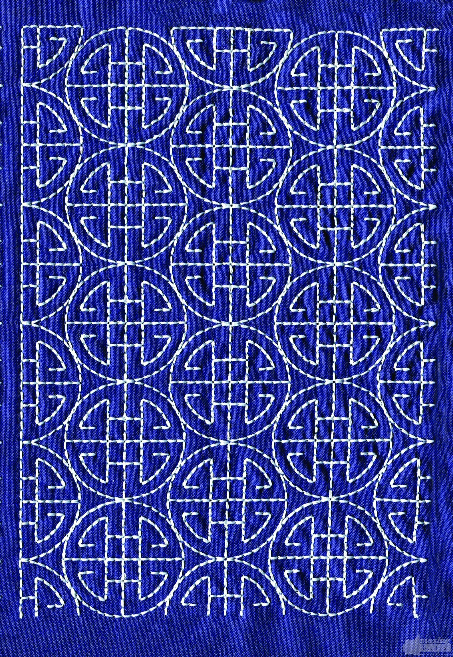 Sashiko Quilting Patterns Free : Sashiko Quilt Embroidery Design 5