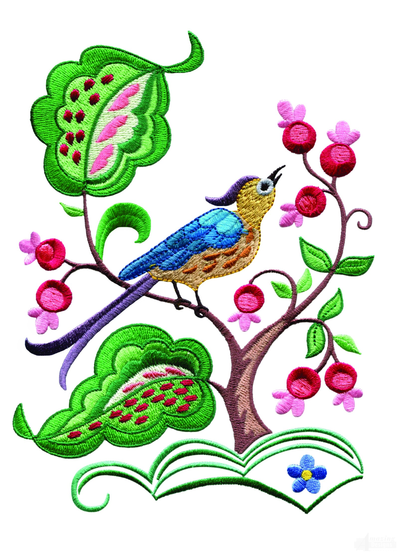 A Birds Paradise Jf301 Embroidery Design