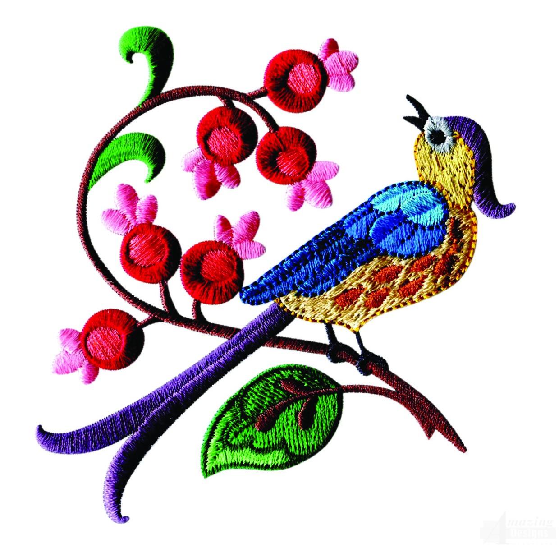 Райская птица вышивка 89