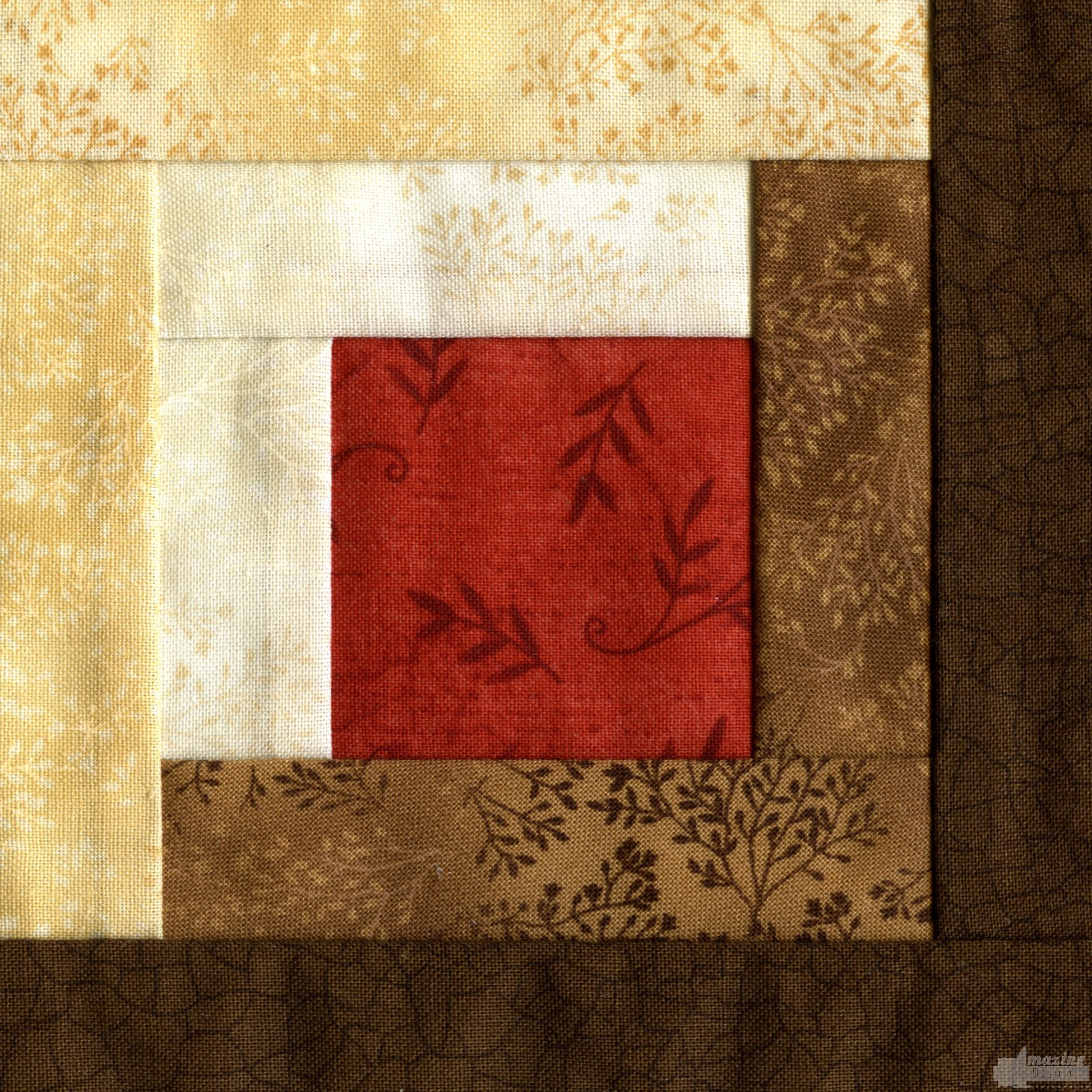 Embroidery Quilt Block Designs : Log Cabin Quilt Block Embroidery Design