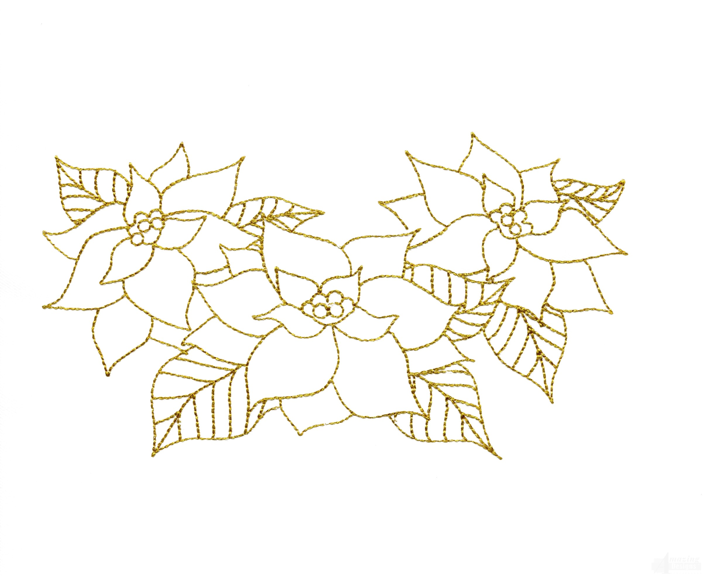 Line Work Design : Poinsettia pattern for applique search results