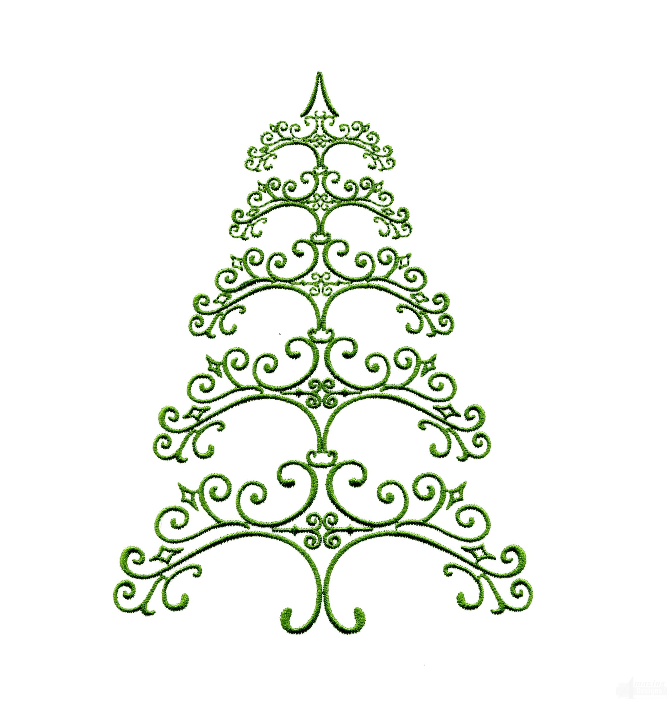 ironwork 2 christmas tree embroidery design - Christmas Tree Designs