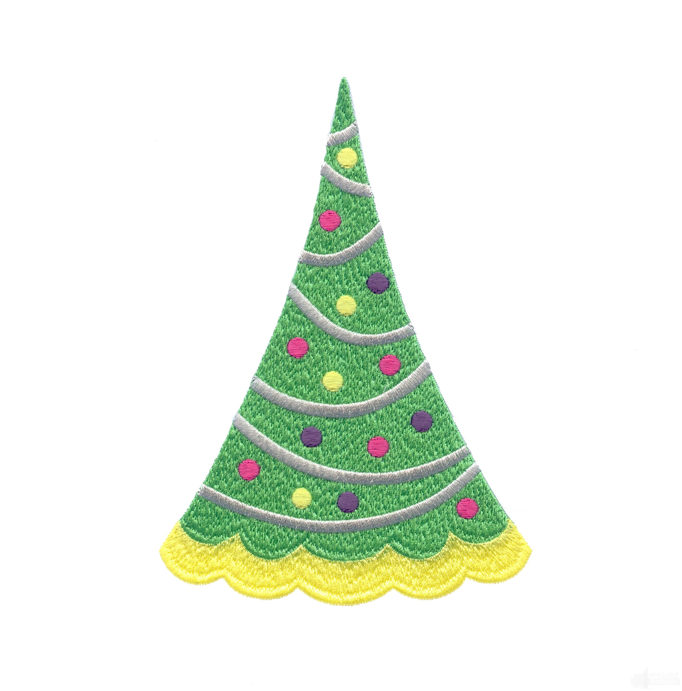 Simple Christmas Tree Embroidery Design