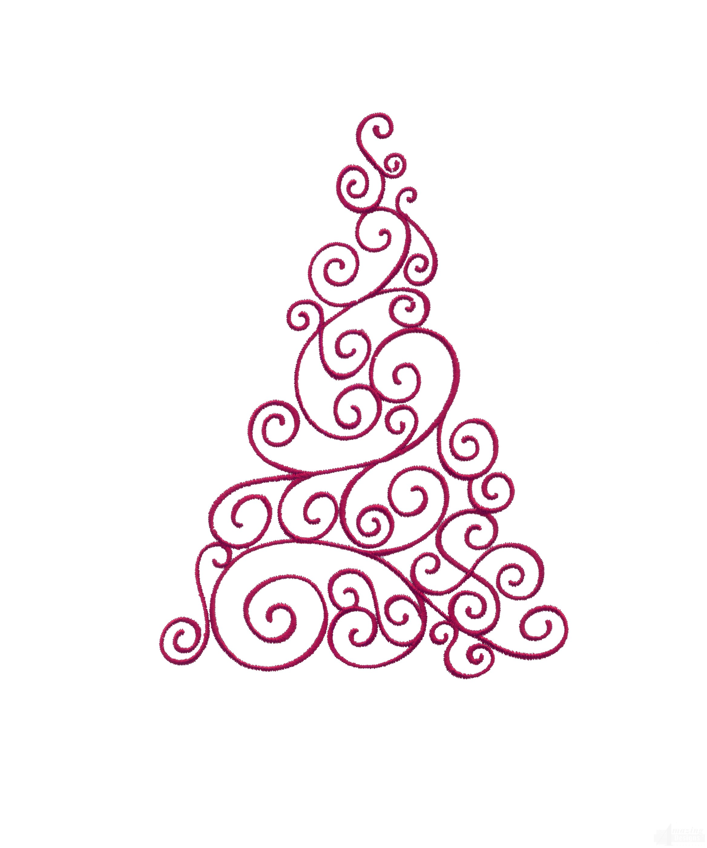 Scroll christmas tree embroidery design quick overview bankloansurffo Choice Image