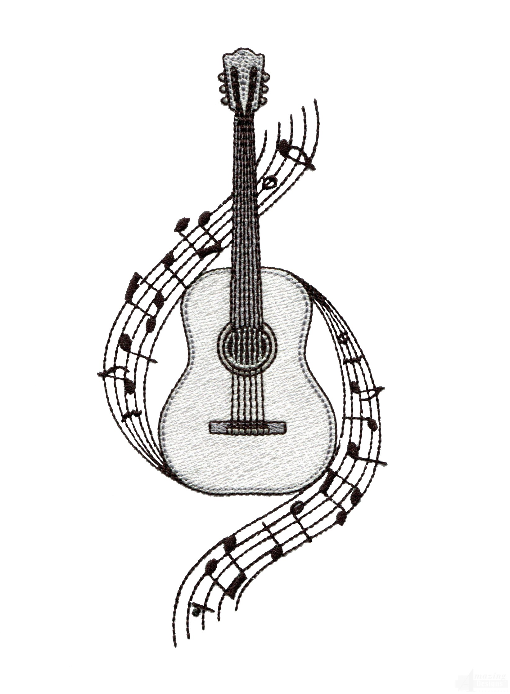 Gallery For gt Black And White Acoustic Guitar Drawing