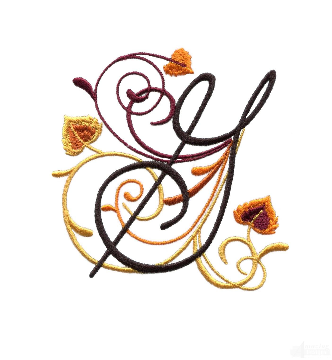 Letter G Embroi... G Design