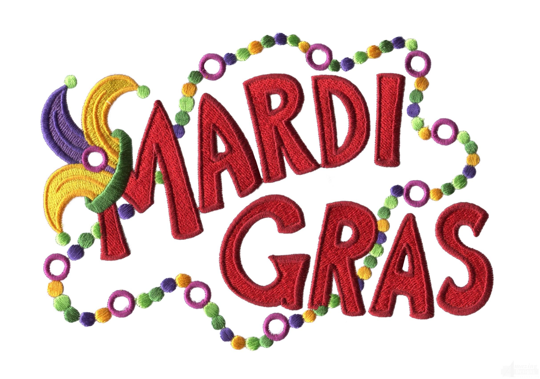 mardi gras machine embroidery design