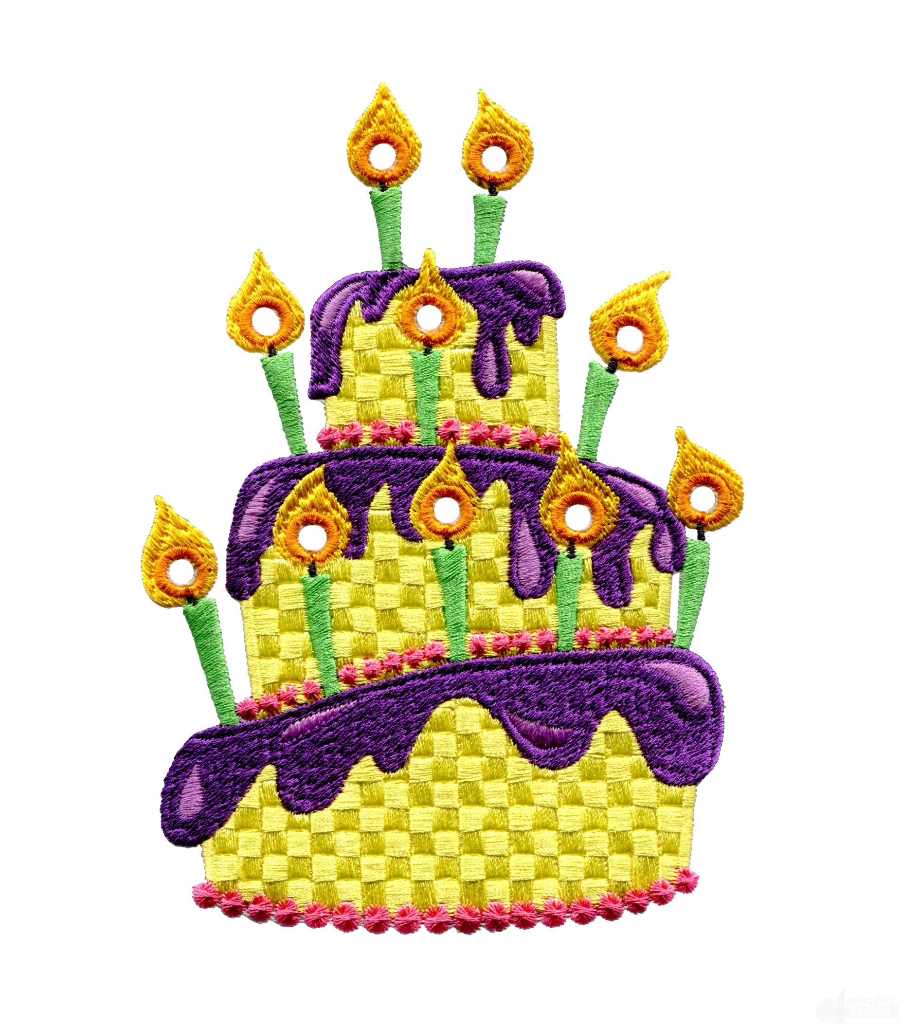 Cake Design Programs Download Free : Birthday Cake Embroidery Design