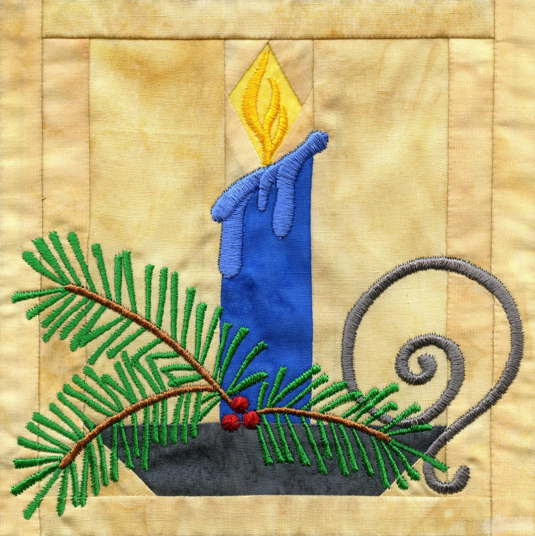 In-the-hoop Christmas Quilt Block : christmas quilt block - Adamdwight.com