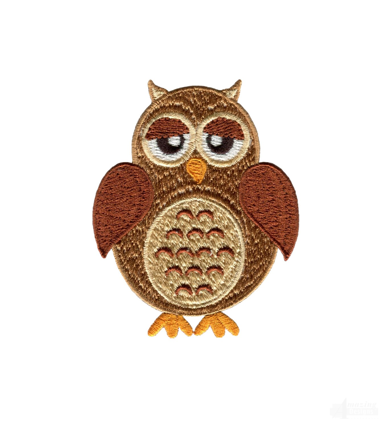 Brown Owl Embroidery Design