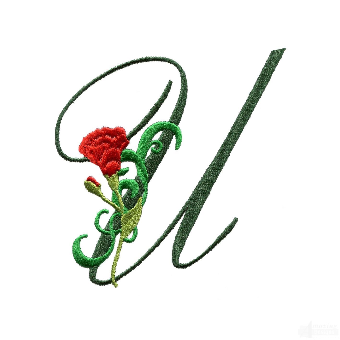 Letter U Floral ...U Letter Design