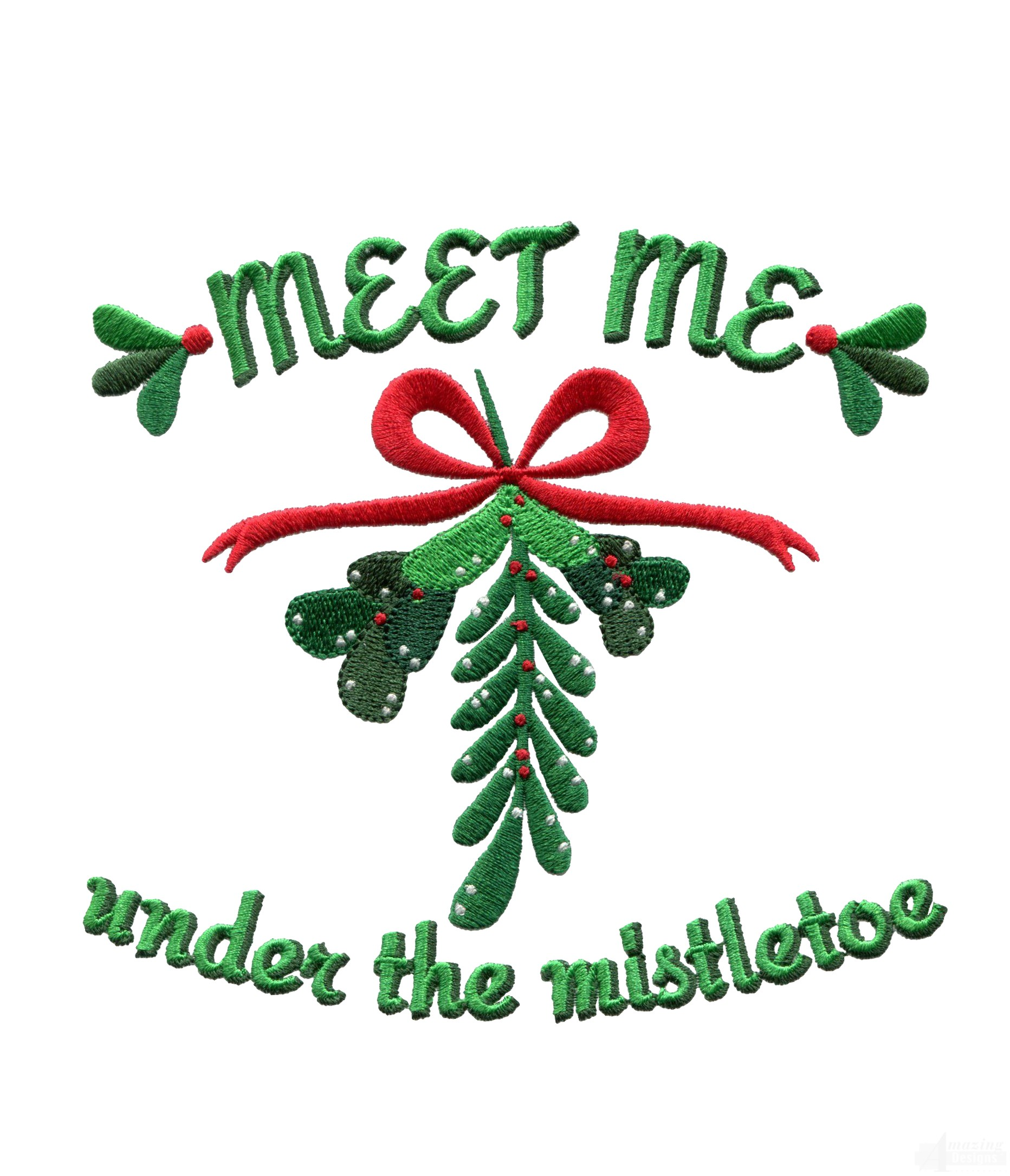 The mistletoe christmas embroidery design under the mistletoe christmas embroidery design buycottarizona Image collections