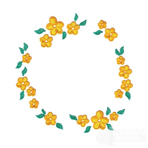 Circular Flower Border