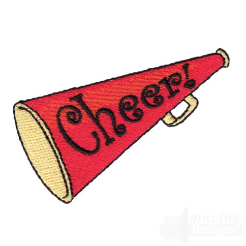Cheer Megaphone Colouring Pages