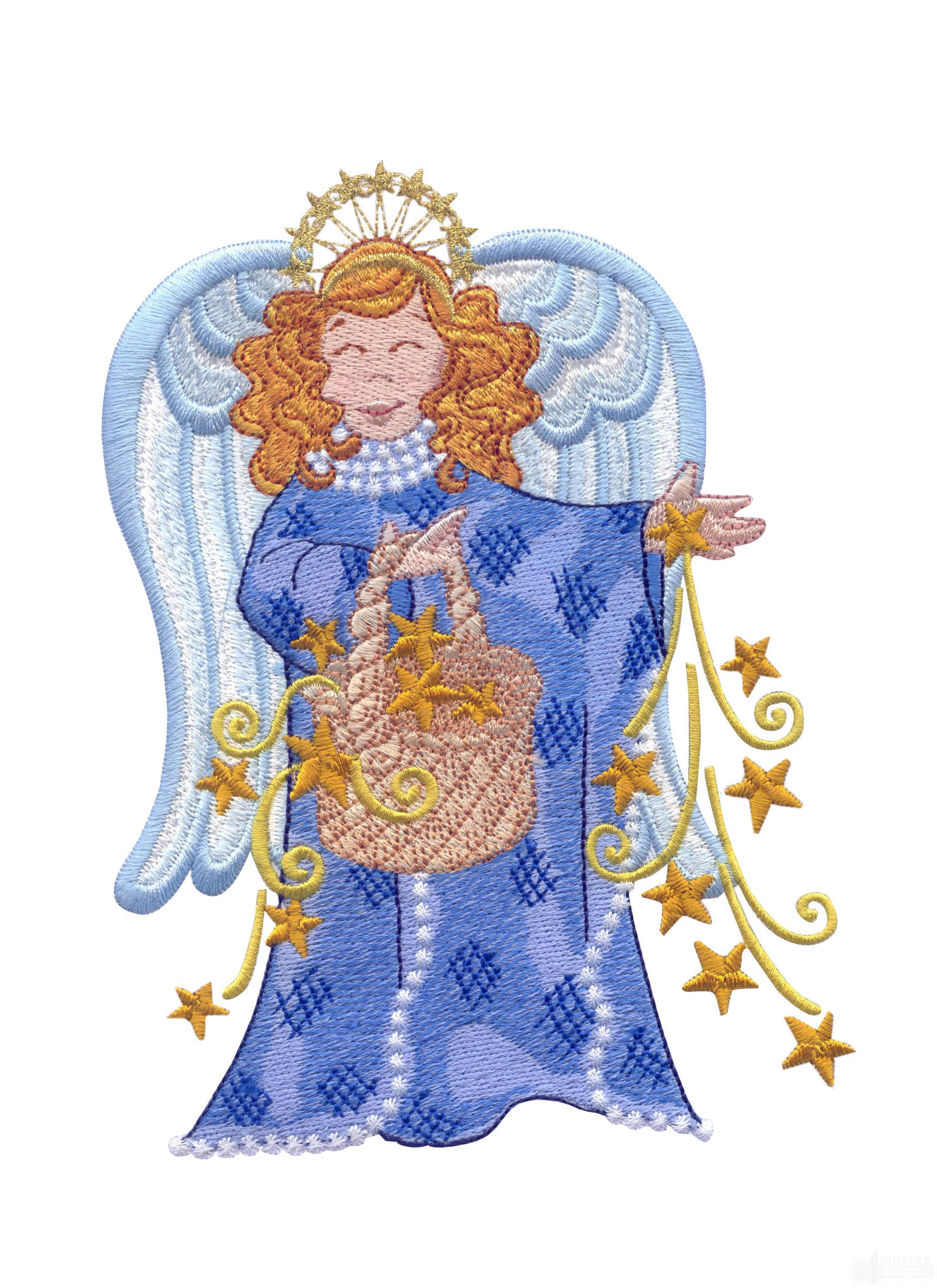 swnoa101 opulent angels embroidery design