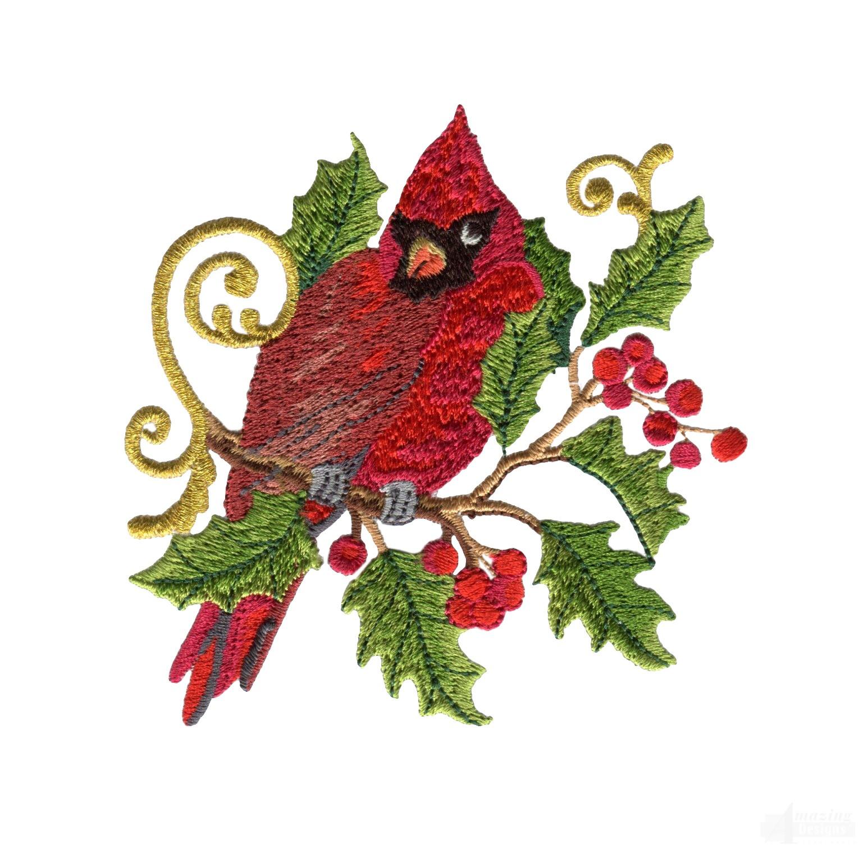 swnrcc105 regal cardinal embroidery design. Black Bedroom Furniture Sets. Home Design Ideas