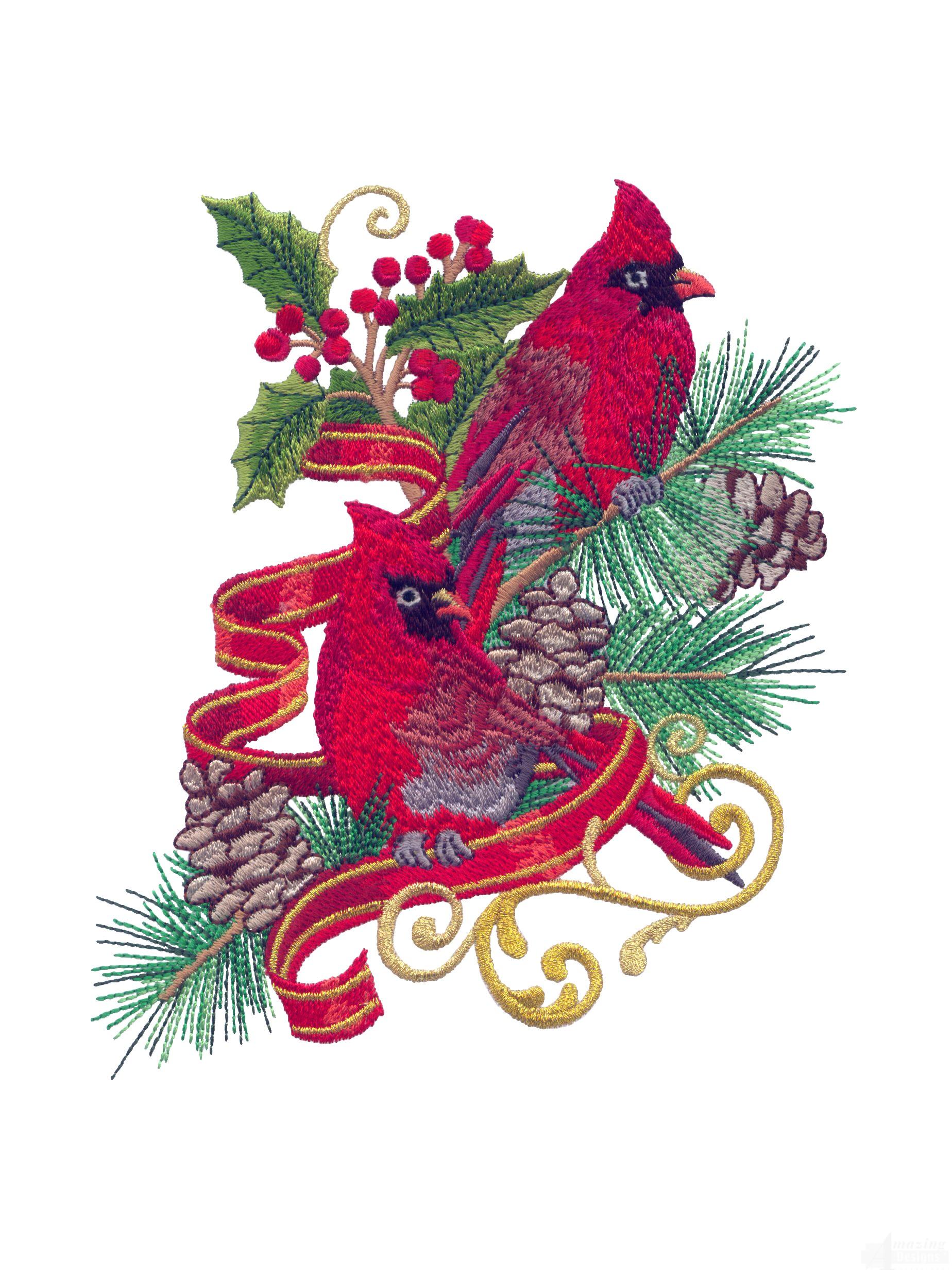 swnrcc108 regal cardinal embroidery design. Black Bedroom Furniture Sets. Home Design Ideas
