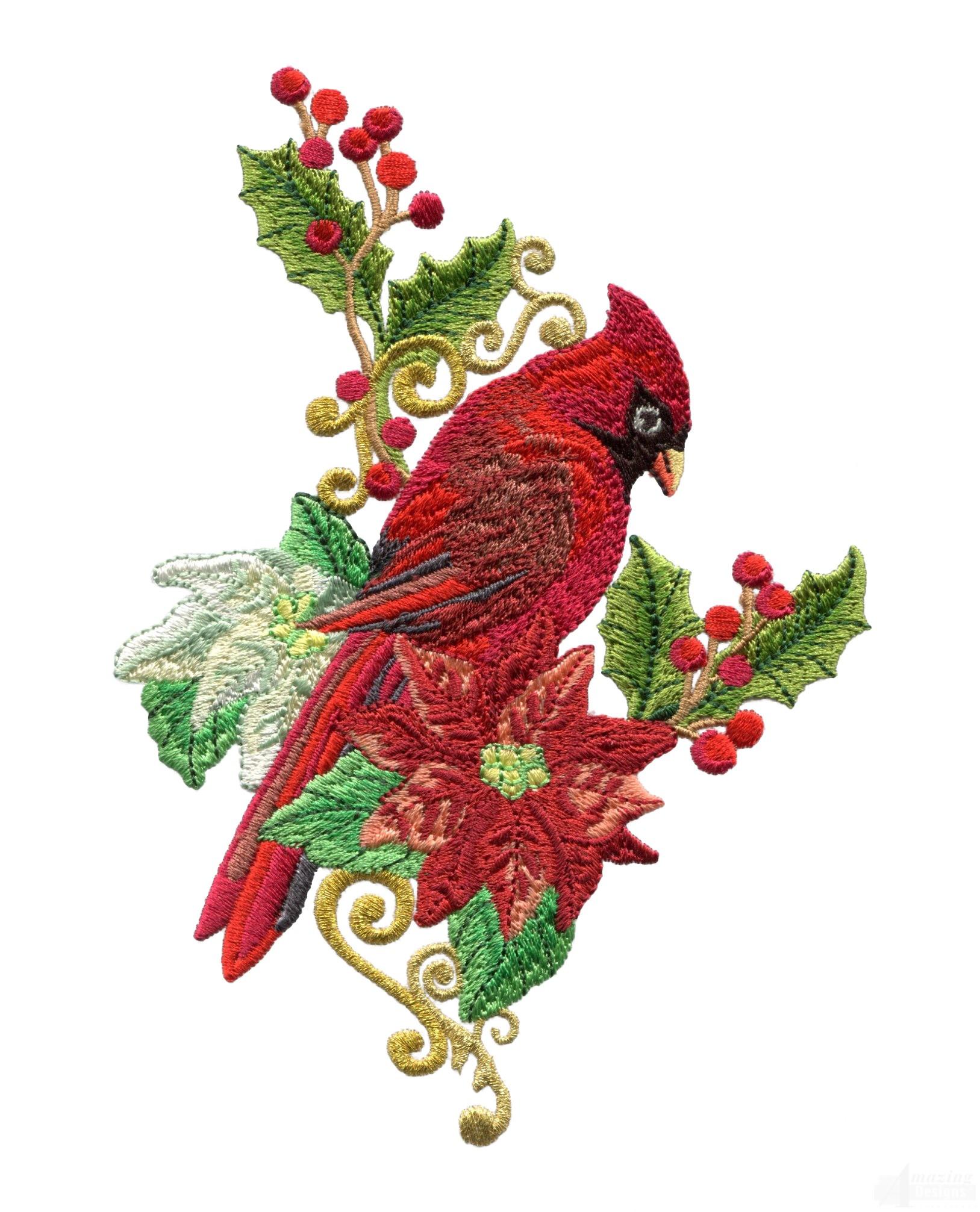swnrcc127 regal cardinal embroidery design. Black Bedroom Furniture Sets. Home Design Ideas