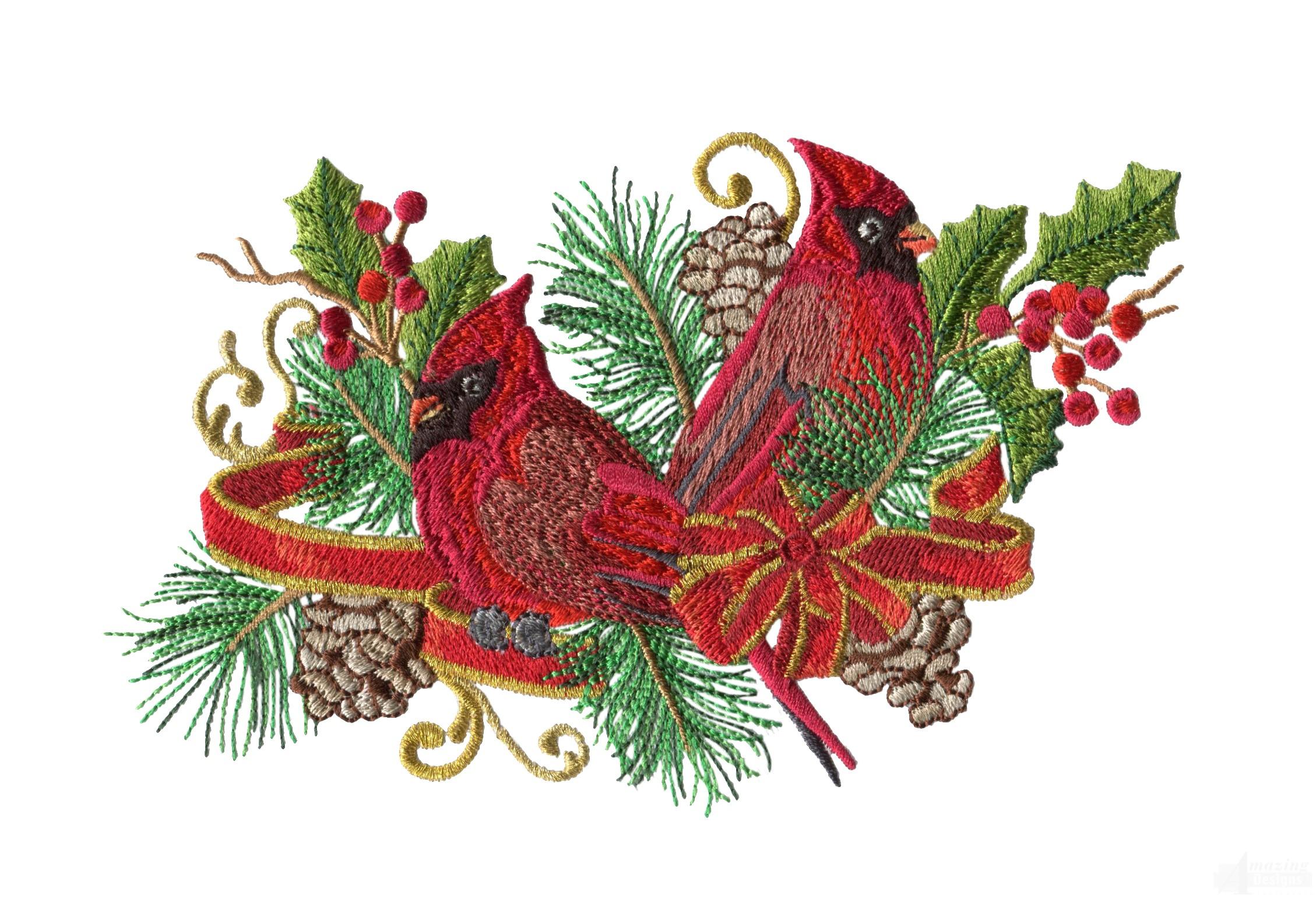 swnrcc130 regal cardinal embroidery design. Black Bedroom Furniture Sets. Home Design Ideas
