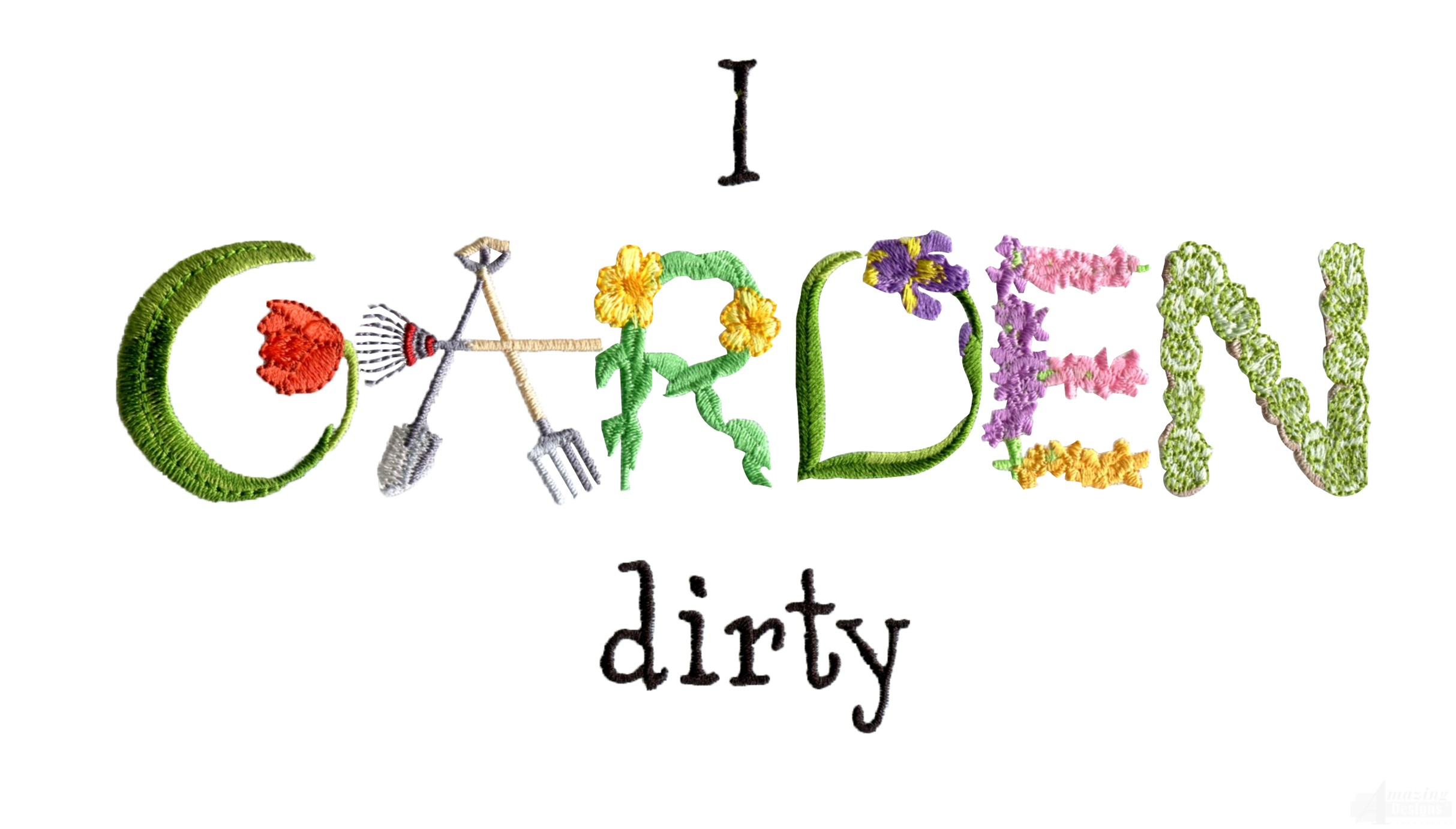 I garden dirty embroidery design for Garden embroidery designs free