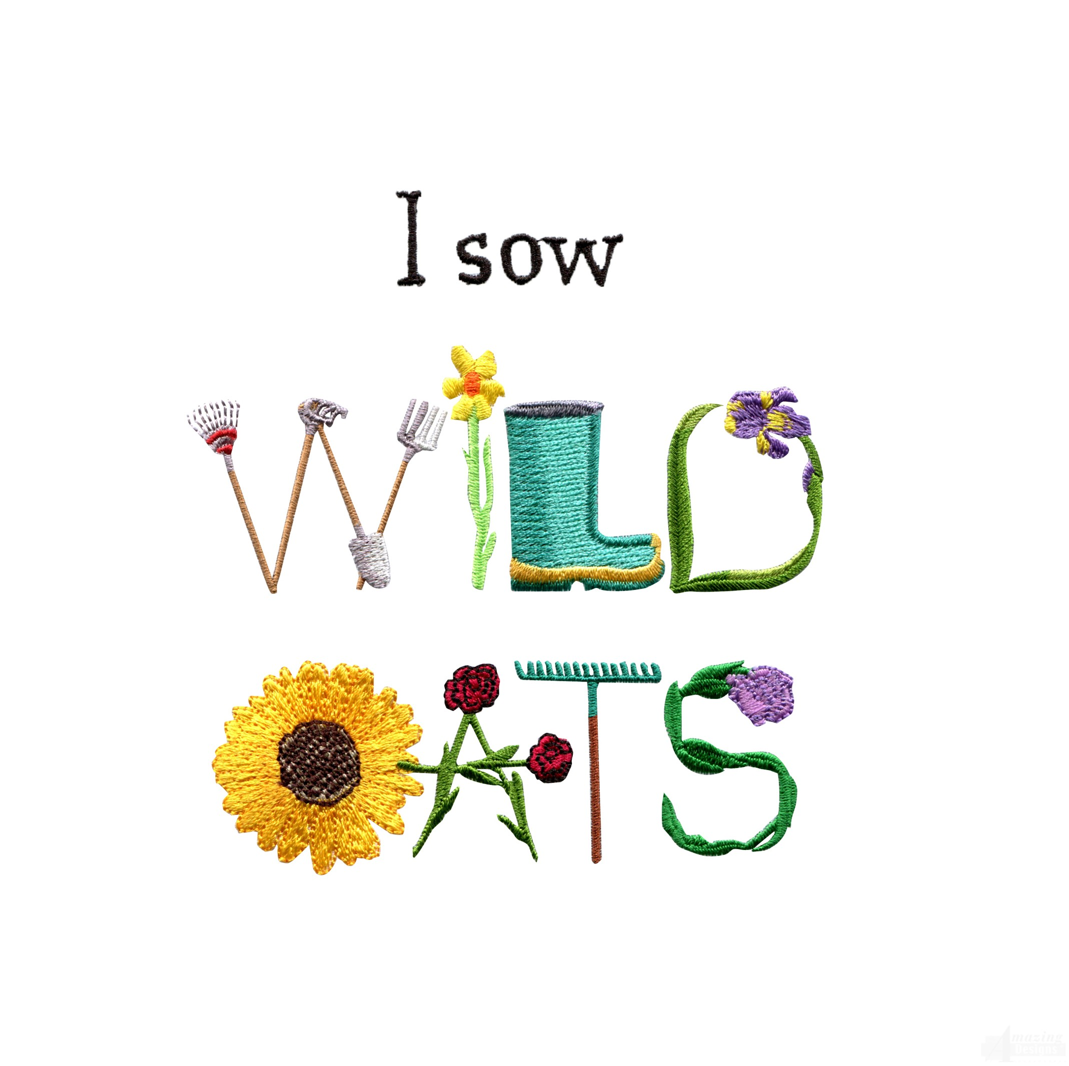 Sewing your wild oats