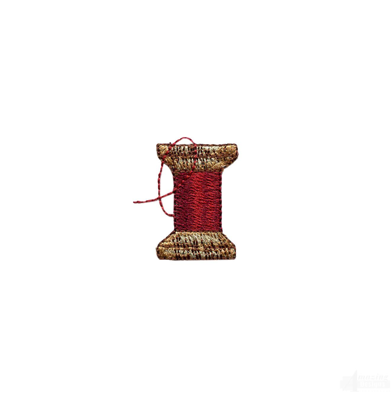 Sew thread spool embroidery design