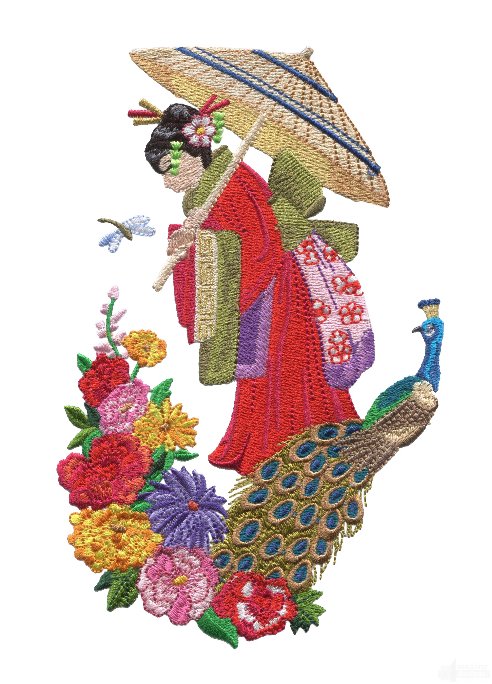 Swngg102 a geishas garden embroidery design for Garden embroidery designs free