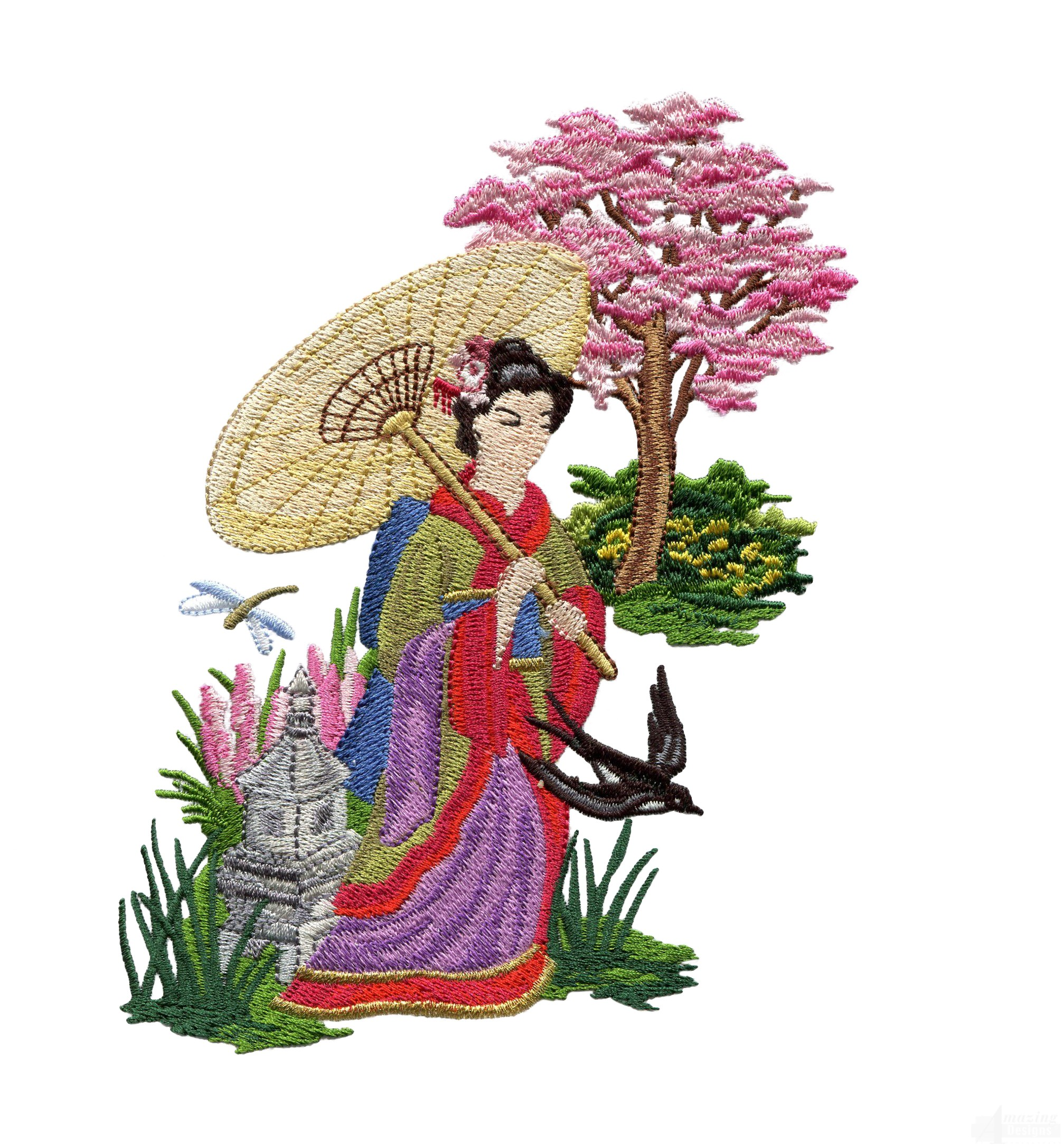 Swngg111 a geishas garden embroidery design for Garden embroidery designs free
