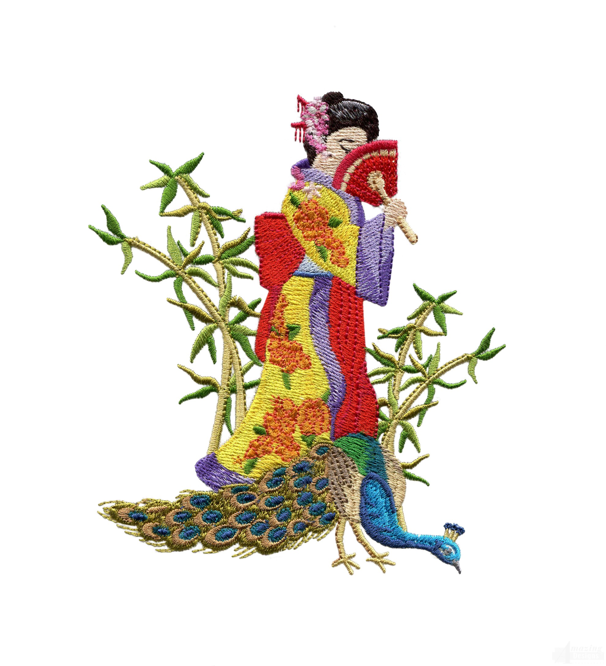 Swngg116 a geishas garden embroidery design for Garden embroidery designs free