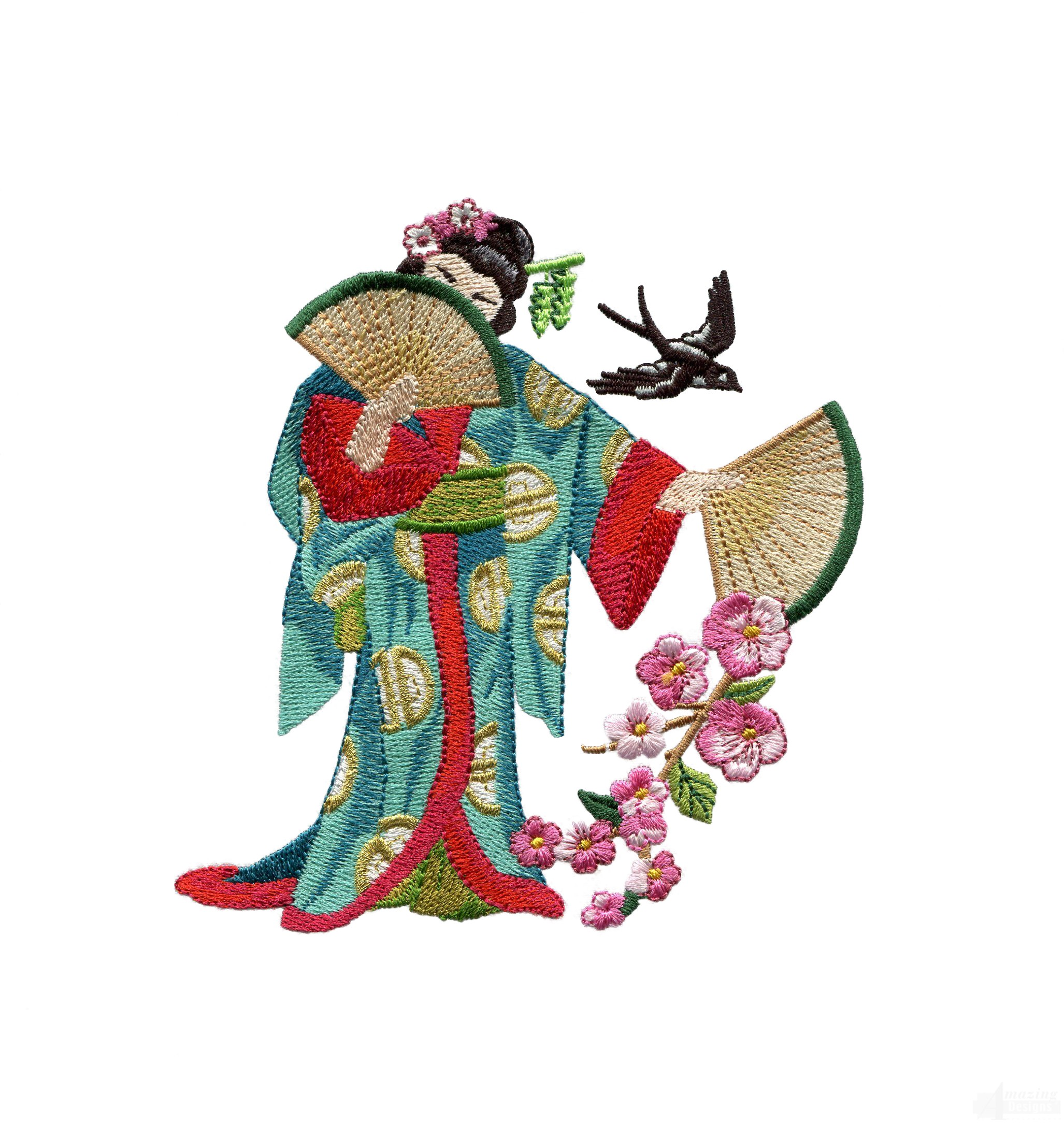 Swngg119 a geishas garden embroidery design for Garden embroidery designs free