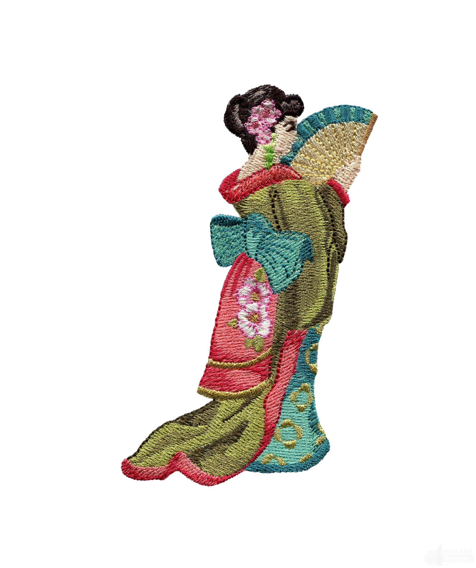 Swngg134 a geishas garden embroidery design for Garden embroidery designs