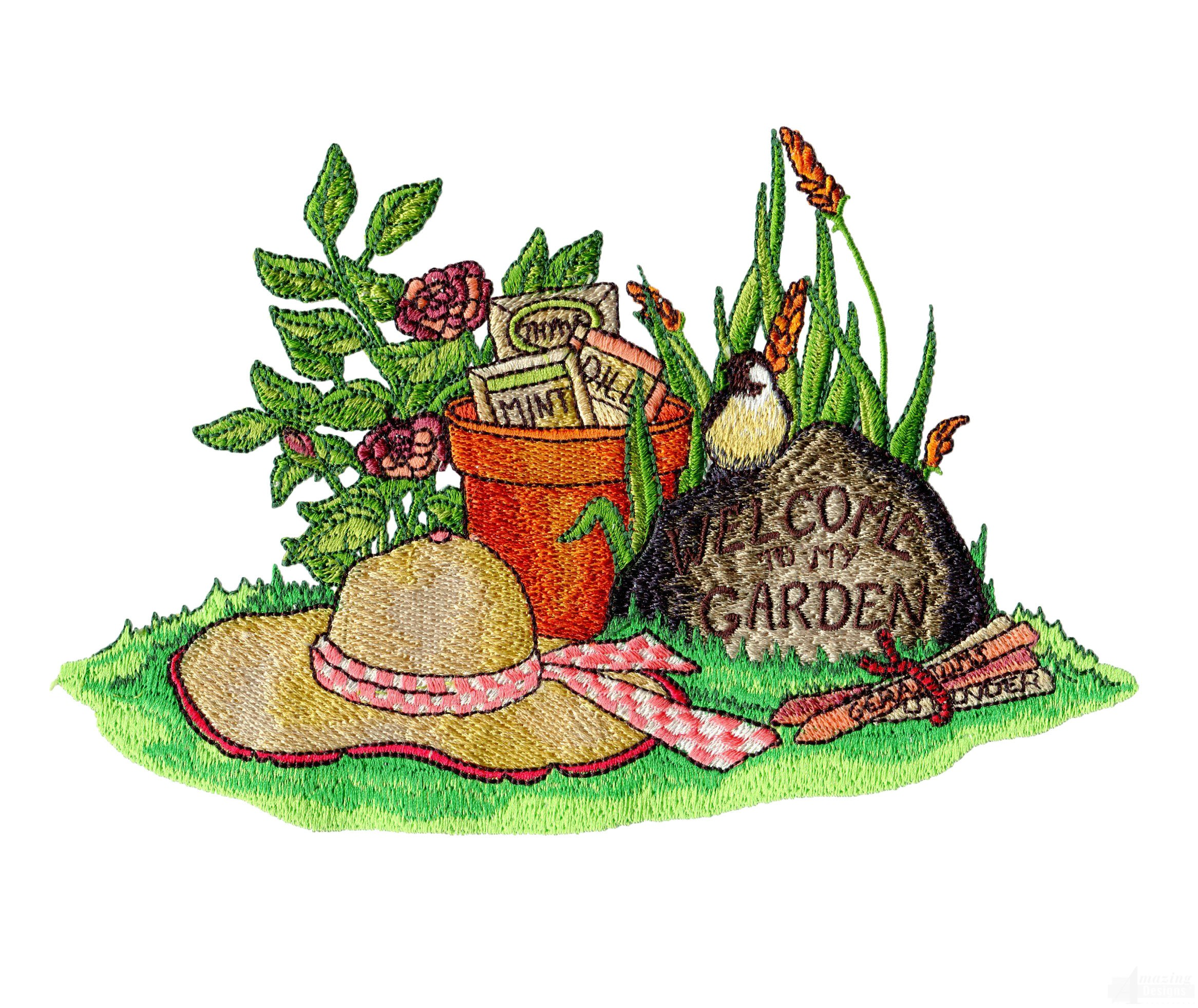 welcome to my garden embroidery design ForGarden Embroidery Designs Free