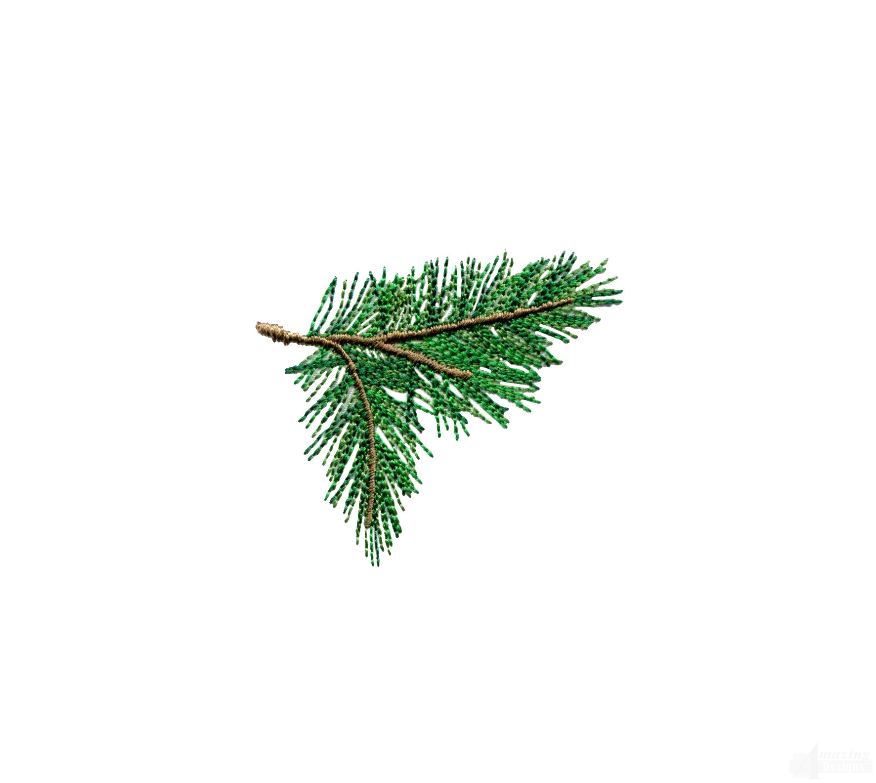 Pine Bough Embroidery Design