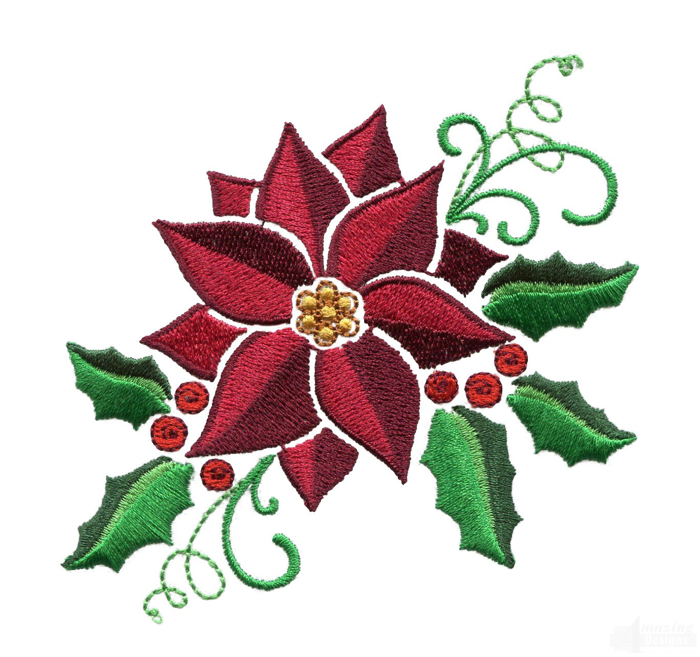 Free Holly Embroidery Design