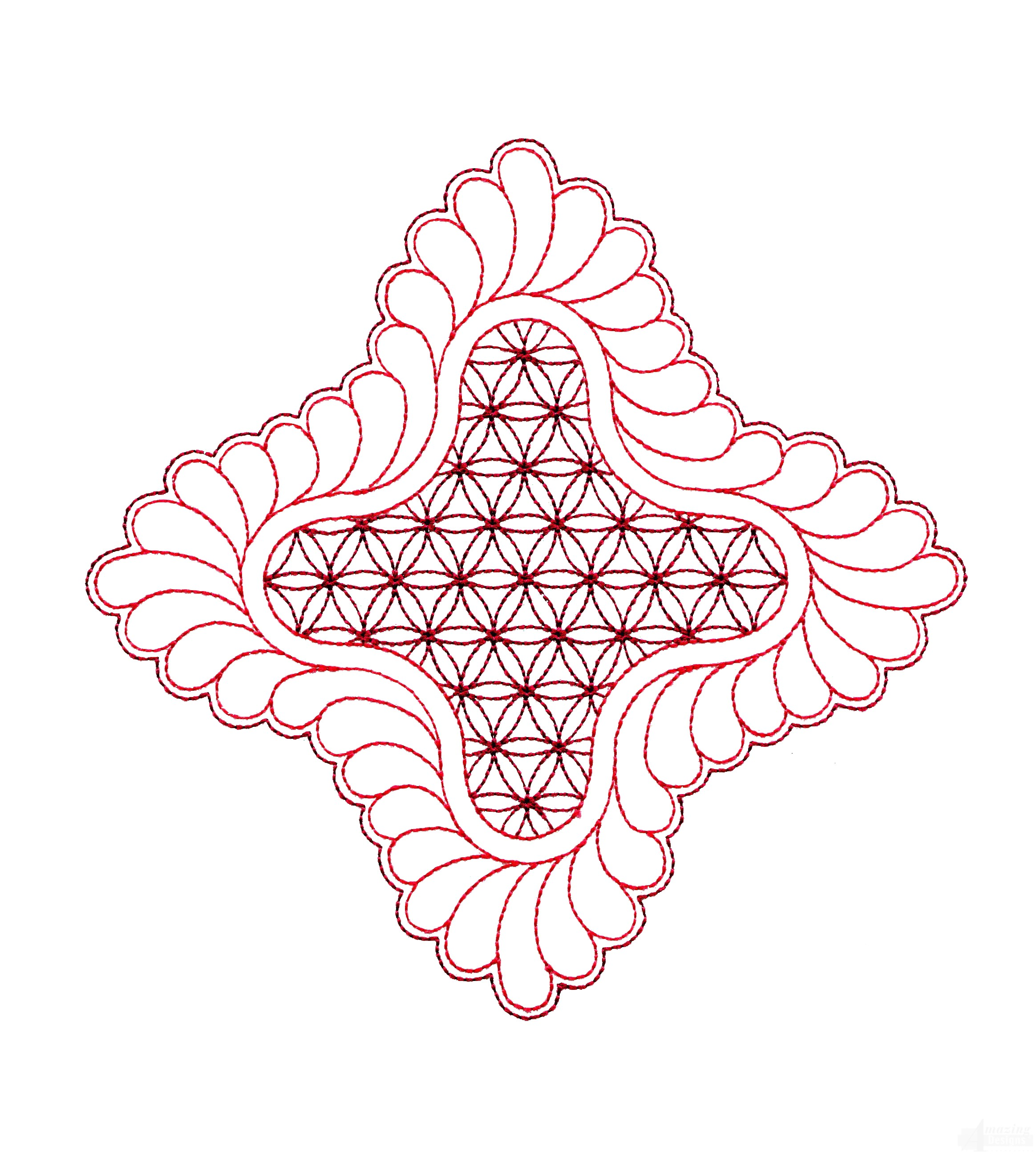 Rs101 Quilt Motif Embroidery Design