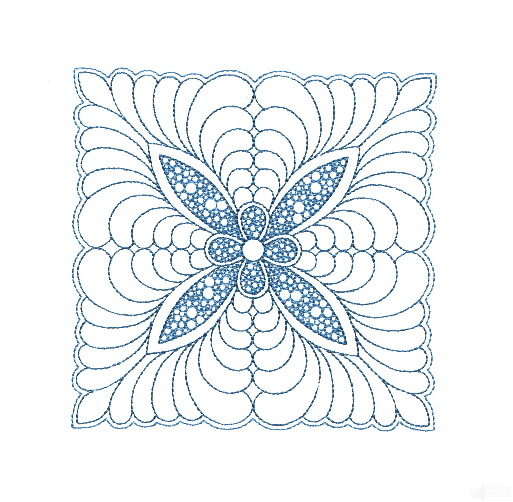 Rs quilt motif embroidery design