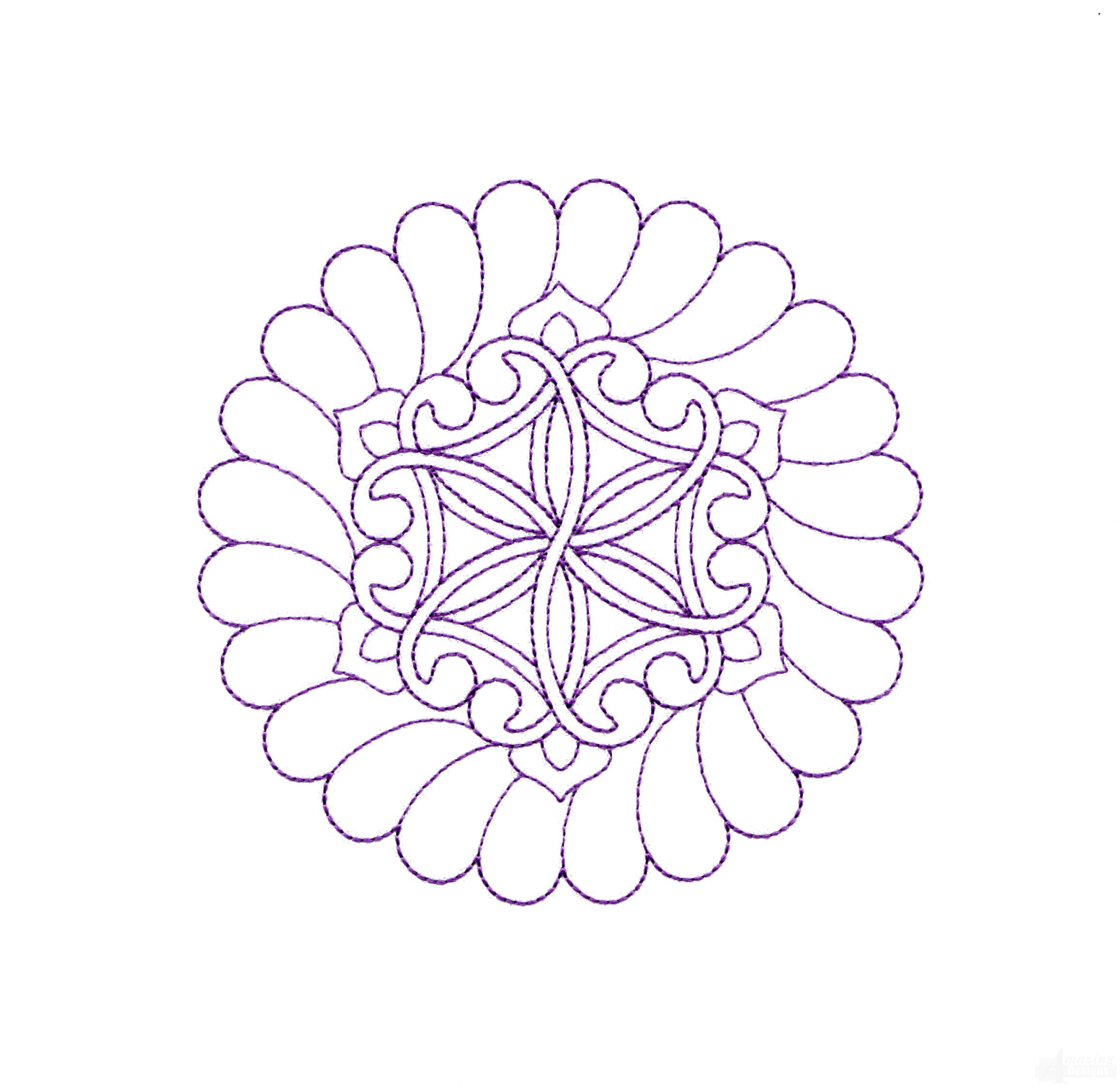 Rs123 Quilt Motif Embroidery Design